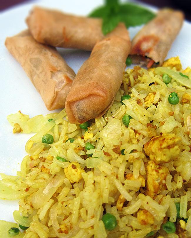 Riz Cantonais vegan vegetarien