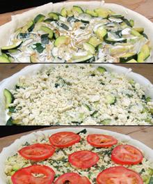 Tarte aux courgettes vegan vegetalien