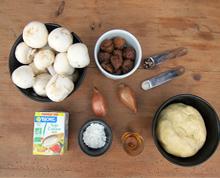 Tourte forestière aux champignons et aux marrons vegan vegetalien vegetarien