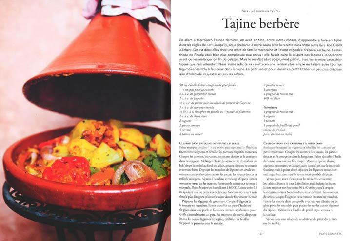tajine berbere et de papaye sauce satay
