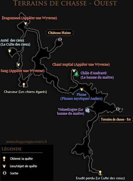carte terrains de chasse ouest mota dragon age 2
