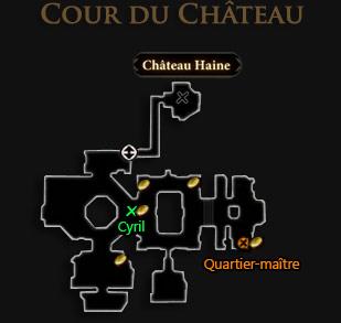 carte cour du chateau haine Puits aux souhaits dragon age 2 mota
