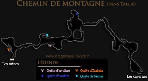carte Chemin de montagne dragon age 2 sans Tallis
