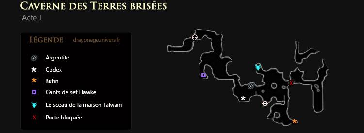 Dragon age 2 carte Terres brisées
