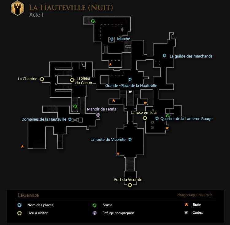 carte dragon age 2 Hauteville nuit acte 1
