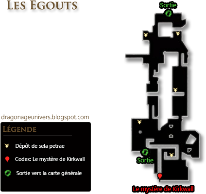 les égouts dragon age 2 carte