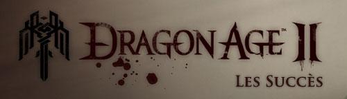 Les succès Dragon age 2