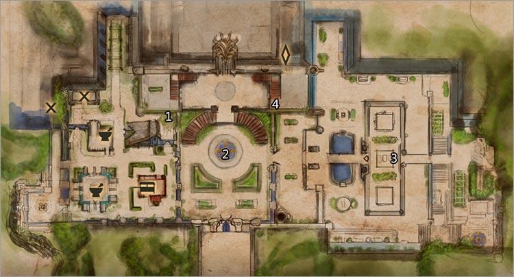 carte statuettes Palais d'hiver