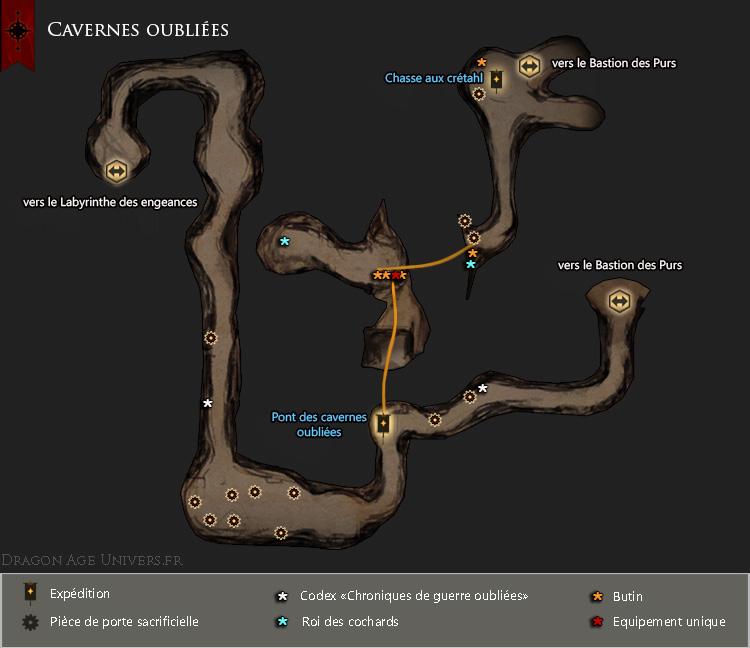 Carte les cavernes oubliées