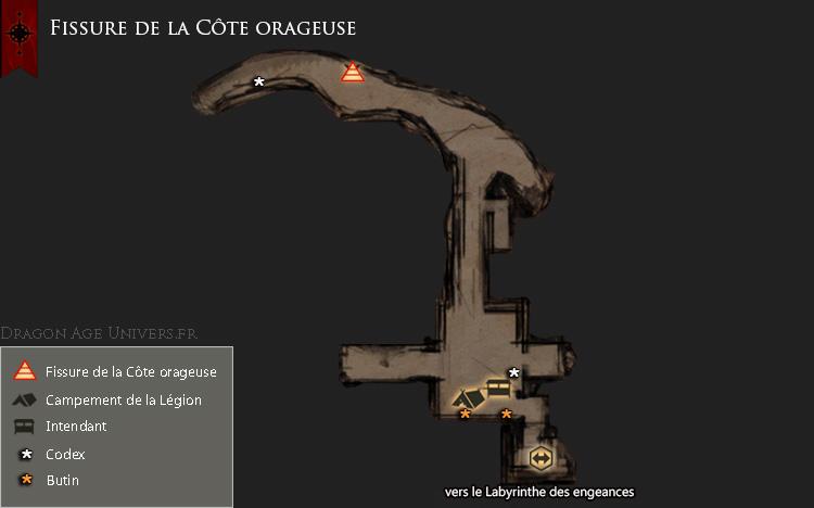 Carte de La fissure de la Côte orageuse