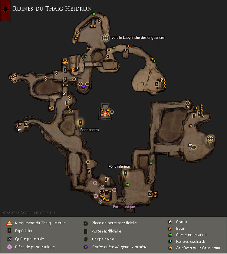 Carte des Ruines du Thaig Heidrun