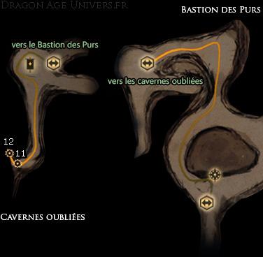carte pièces anciennes Cavernes oubliées