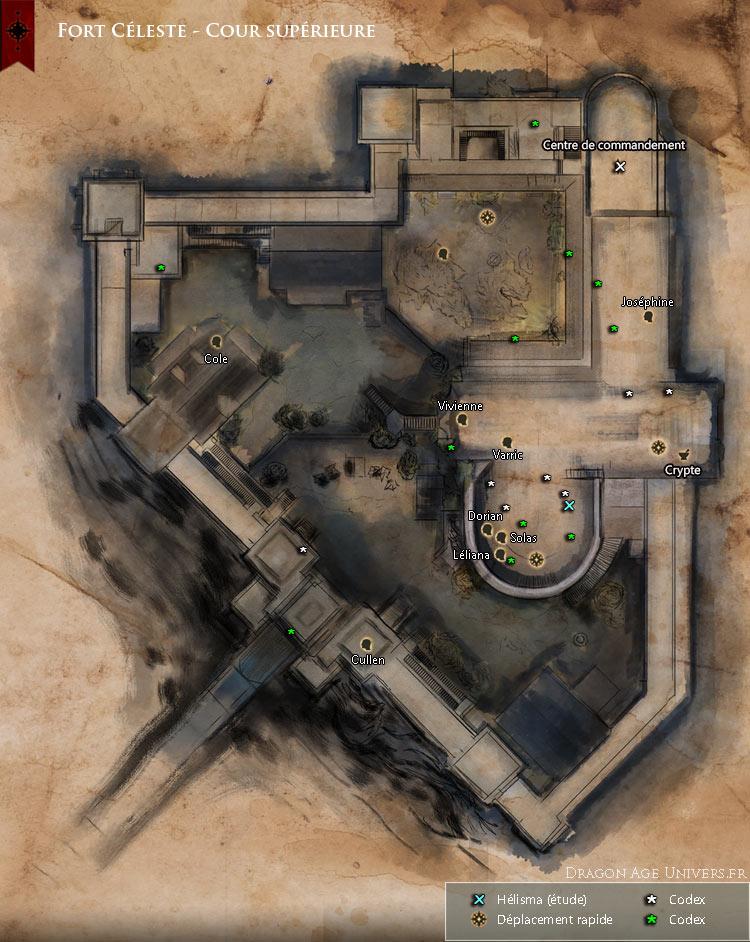 carte de Fort Céleste cour supérieure