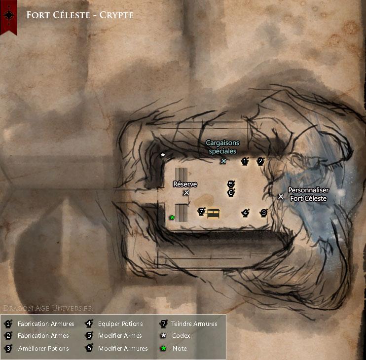 carte de Fort Céleste crypte