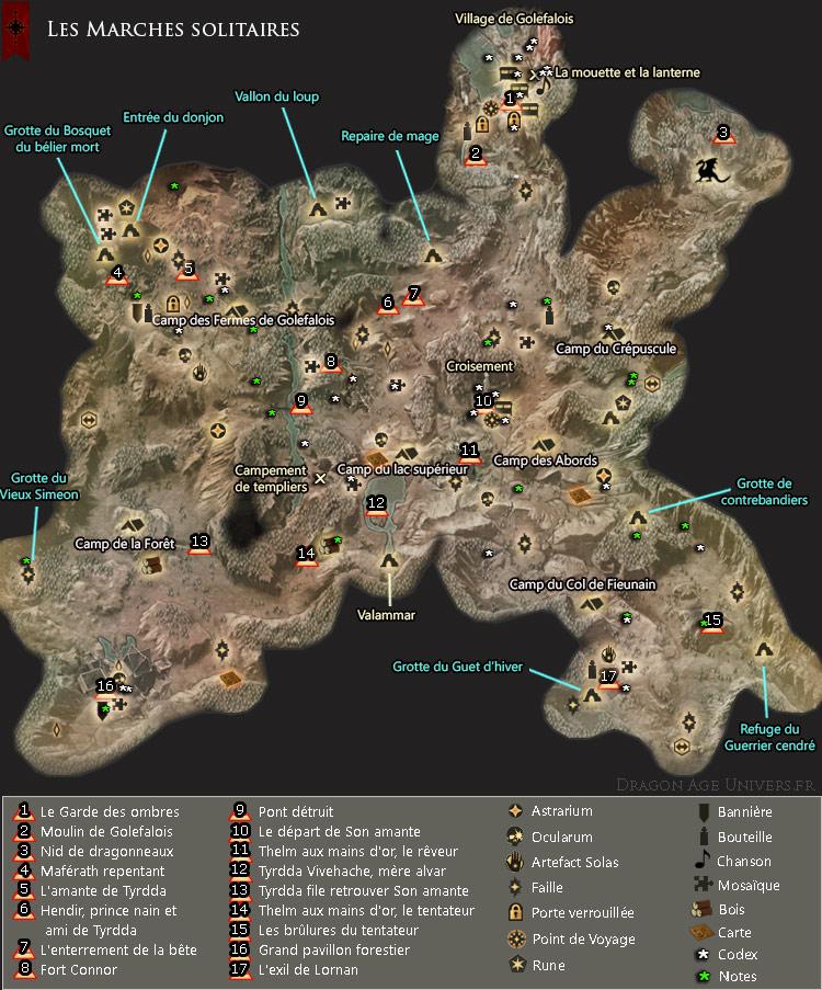 carte des Marches solitaires