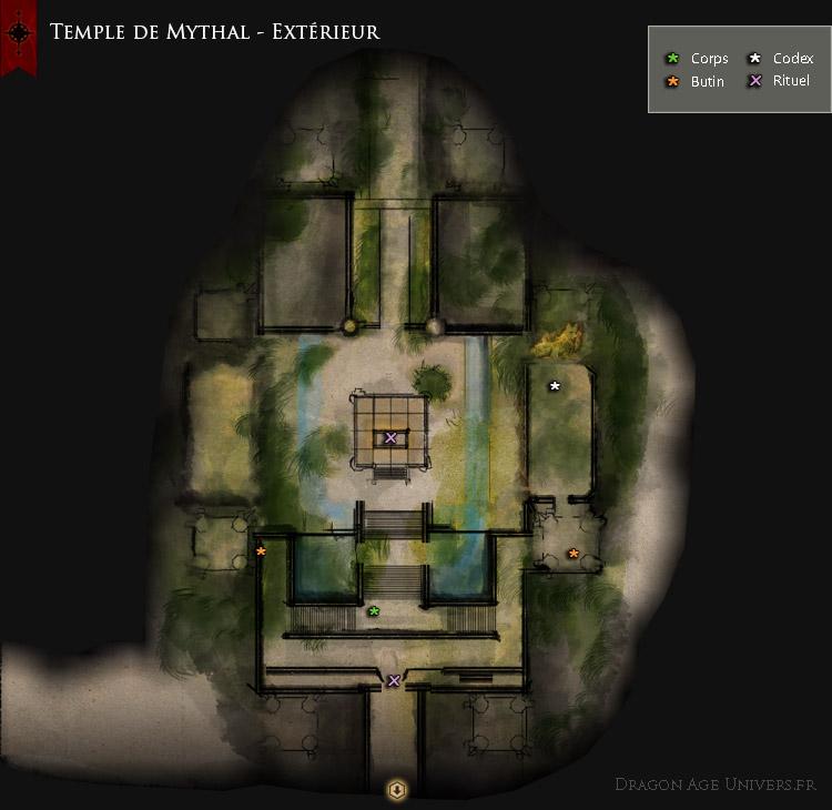 Dragon Age Inquisition Carte La cour extérieure du Temple de Mythal