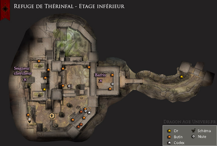 Dragon Age Inquisition cartes du Refuge de Therinfal