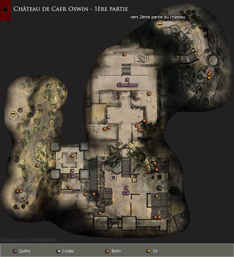 Carte du château de Caer Oswin