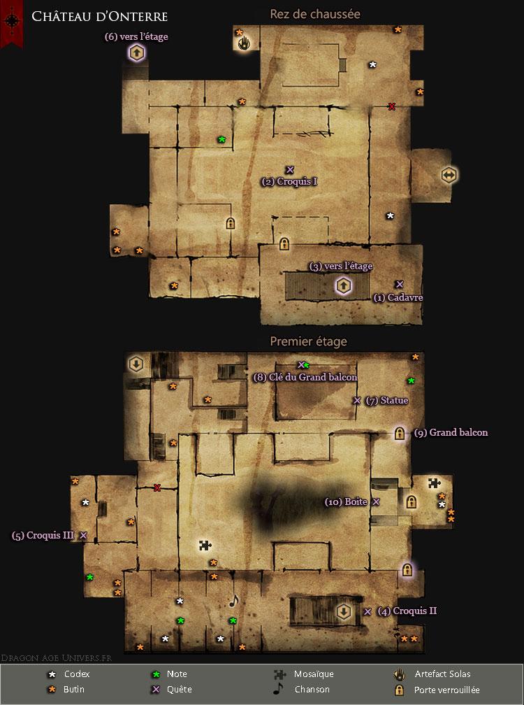 Carte du Château d'Onterre