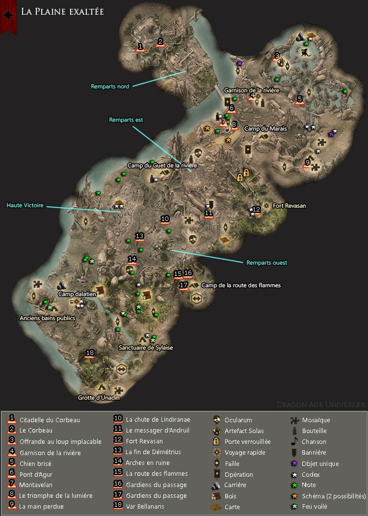 carte de La Plaine exaltée
