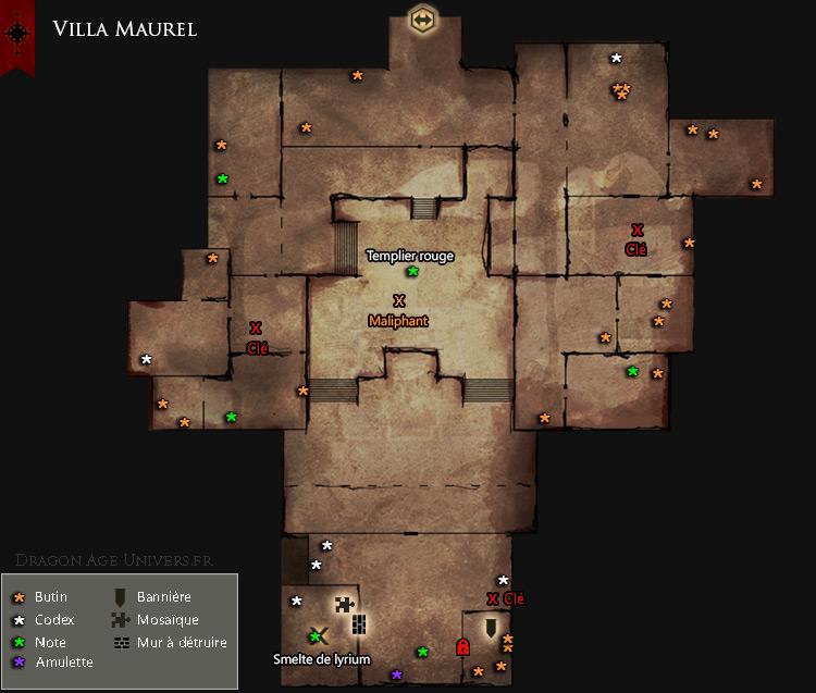 Carte de la Villa Maurel
