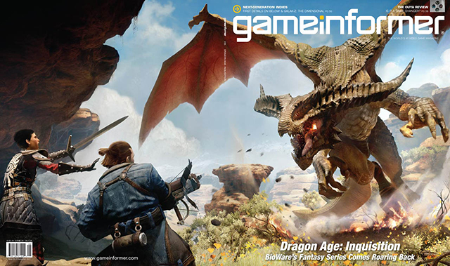 dragon age Inquisition game informer couverture
