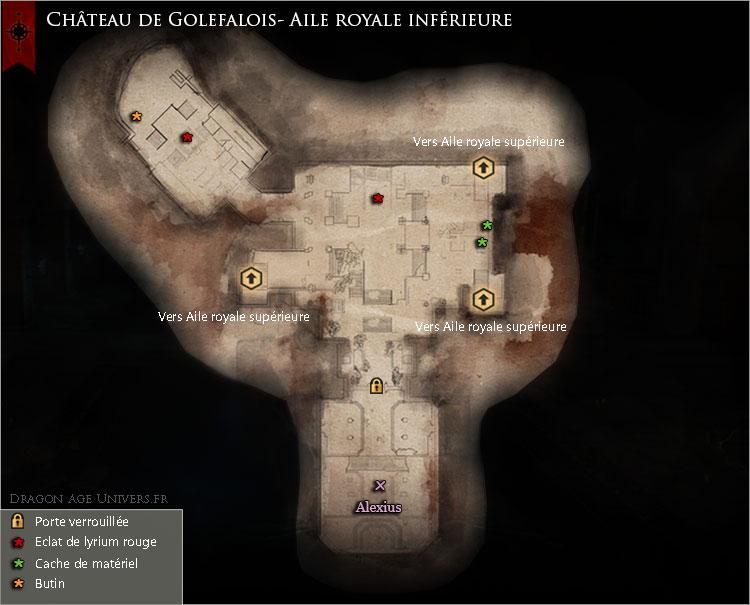 carte du Château de Golefalois