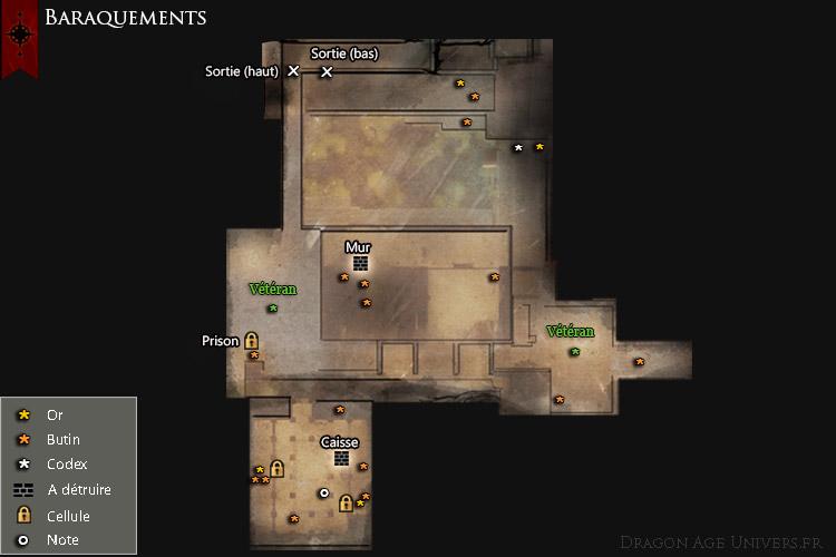 Les baraquements supérieurs