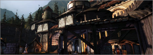Dragon Age Awakening cartes de Fort Bastel