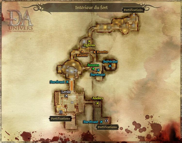 Fort Bastel intérieur carte