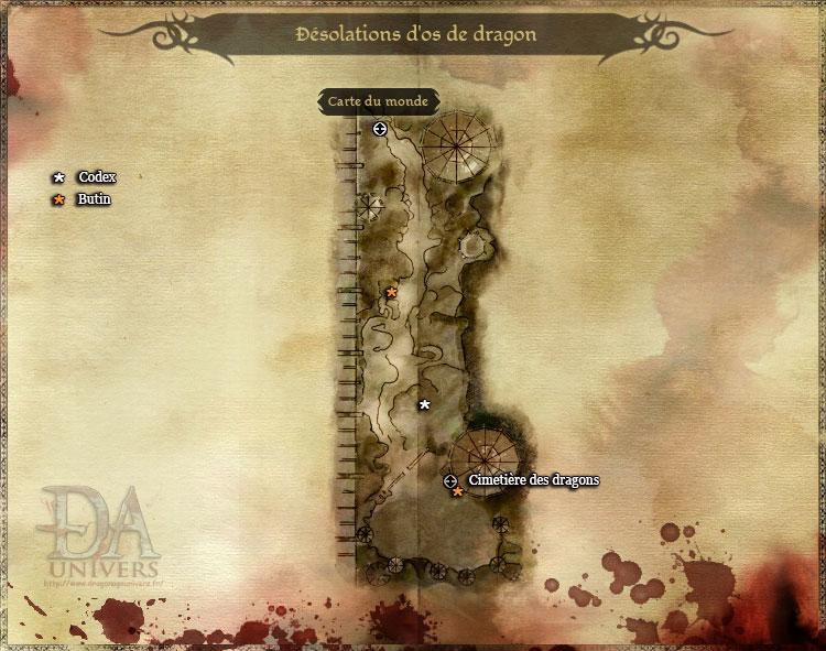 Carte Désolation d'os du dragon
