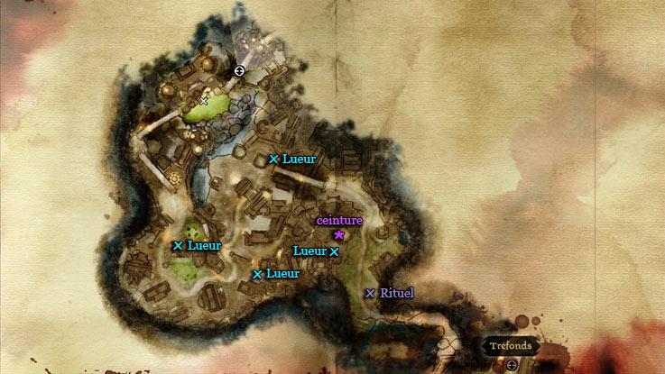 emplacements des lueurs d'Arthalaan