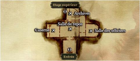 la carte du rez de chaussée