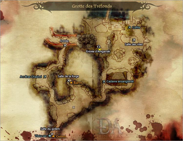 DLC carte grotte des tréfonds