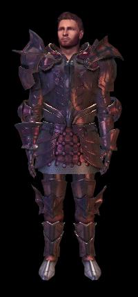 dragon age origins armure de plate supérieure de Wade