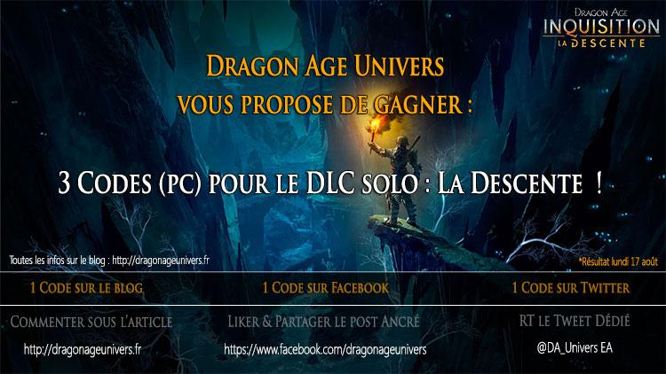 concours 3 Codes pour le DLC La Descente