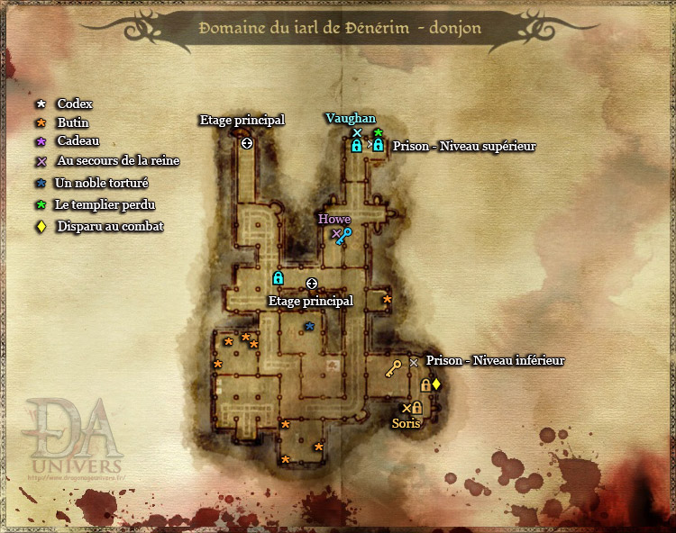 Carte Dragon Age Donjon
