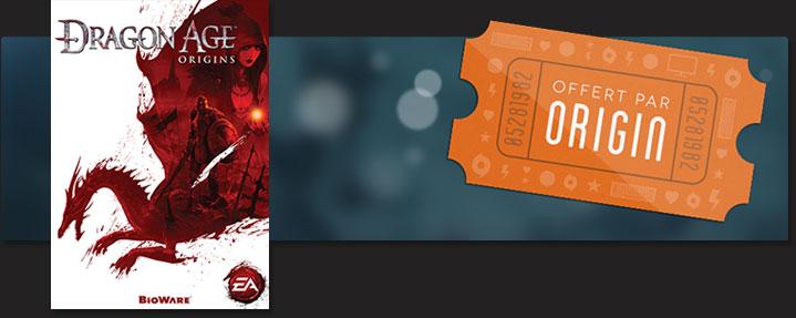 Dragon Age Origins gratuit sur la plateforme Origin d'EA.