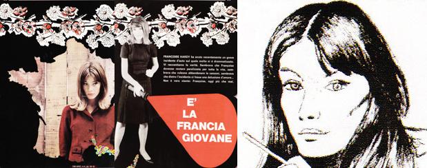Françoise Hardy dans Ciao Amici en 1965 (1ère partie) Ciao1965-1