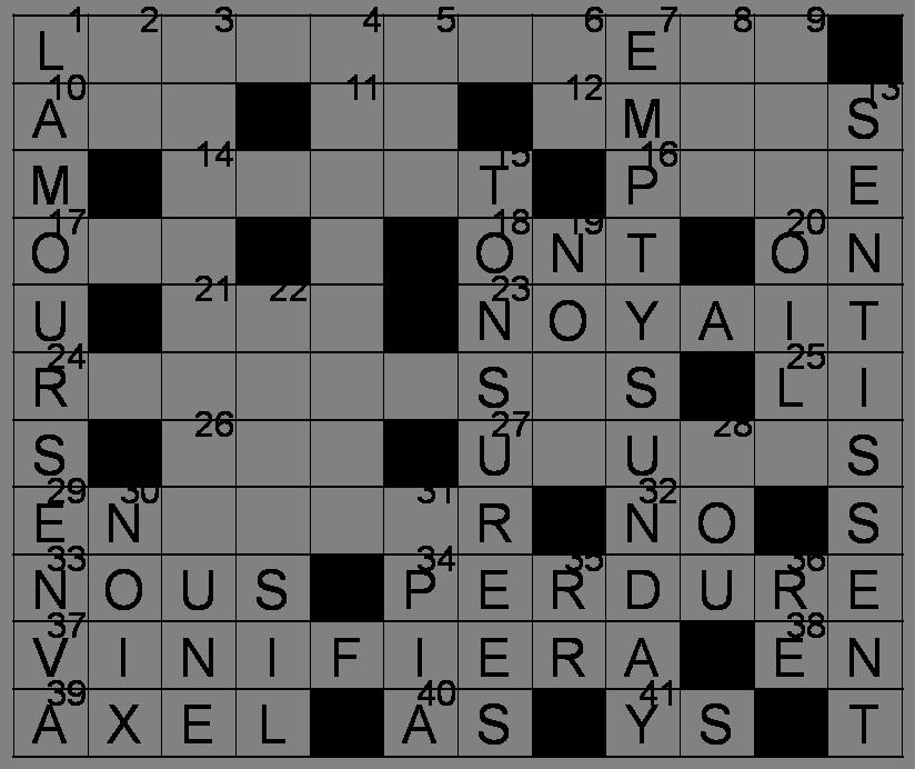 Mots Croisés - Grille du 9 avril 2011 Image60