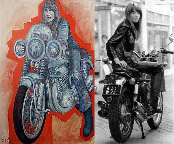 La belle Françoise Hardy sur la moto - Huile de Christophe Gol La_belle_Francoise_sur_la_moto_-_huile_de_Christophe_Gol_copie