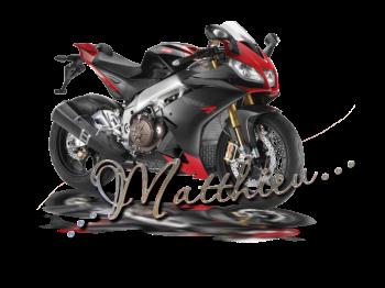 Matthieu prénom signature moto gratuit