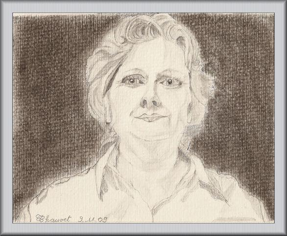 Francine, autoportrait au crayon Autoportrait91109